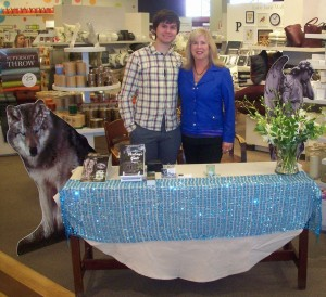 J.R. Matheson with mom, Lee Bice-Matheson at instore book signing, Chapters Square One. Thank you Nadia for hosting us!