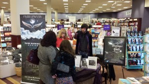 J.R. Matheson explains Destiny's Gate to readers. What a nice time speaking with these two customers.