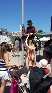 Juggler and animal balloon artist. He worked very hard in the heat entertaining the kids and the adults. Thank you kindly!