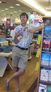 Our manager, my husband, Kevin at Chapters Barrie book signing
